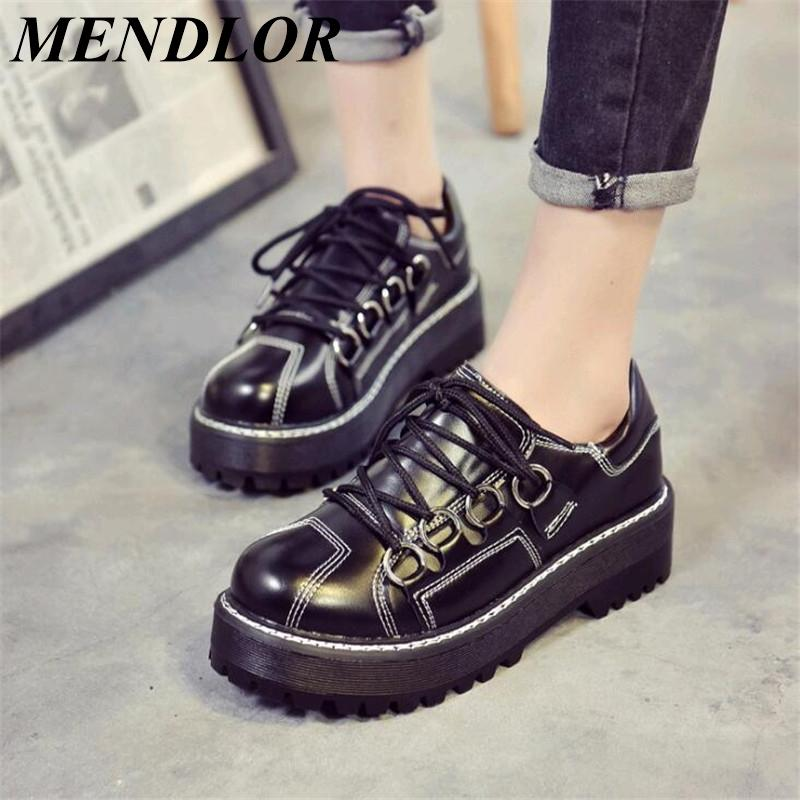 b49ad324bd9 2019 Korean Harajuku Casual Shoes Leather Versatile Flat Single Shoes Girl  Literary Retro Japanese Doll Office Shoes Running Shoes From Tuoxiezi