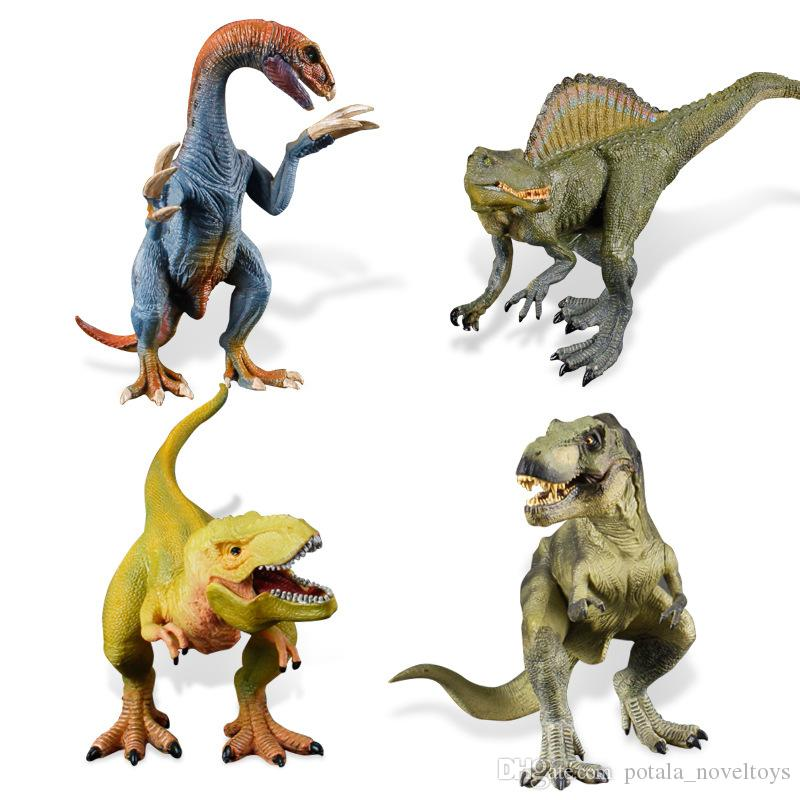 Classic Dinosaur Models Plastic Action Figures Animal Realistic Looking Vinyl Collection Learning Kids Toy Mobile Phone Straps Home Ornament