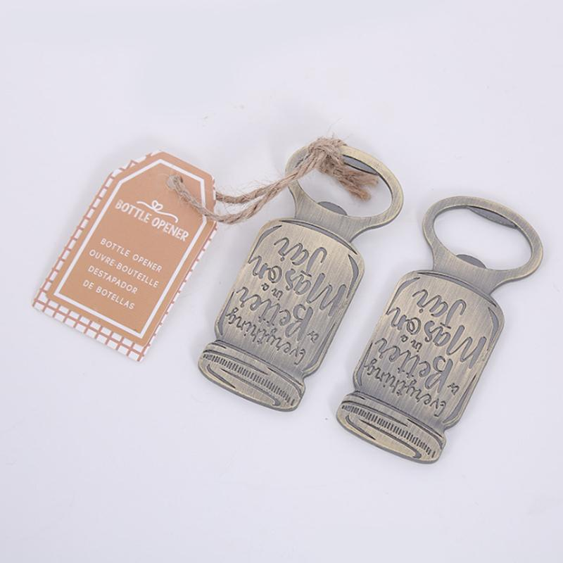 Wedding Favors and Gifts Vintage Mason Jar Metal Beer Bottle Opener Party Supplies Favors