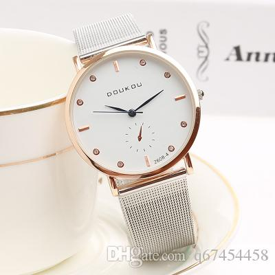 Girls simple fashion watch net with light and thin watch pointer display student table