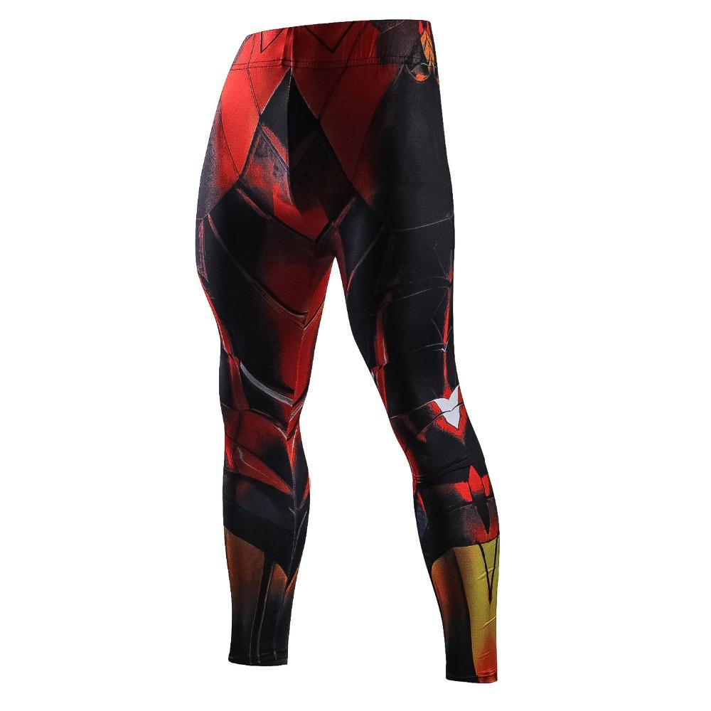 Fall sports bodysuit combo marvel men's leggings 3D printed compression casual pants trendy men's long Johns