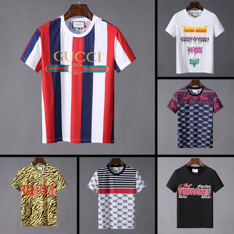 Calidad Verano Marca Hombre De Camisetas Famosa Cortas Para Camiseta Moda Hombres Diseñador 2019 Los Algodón Alta wOm0vN8n