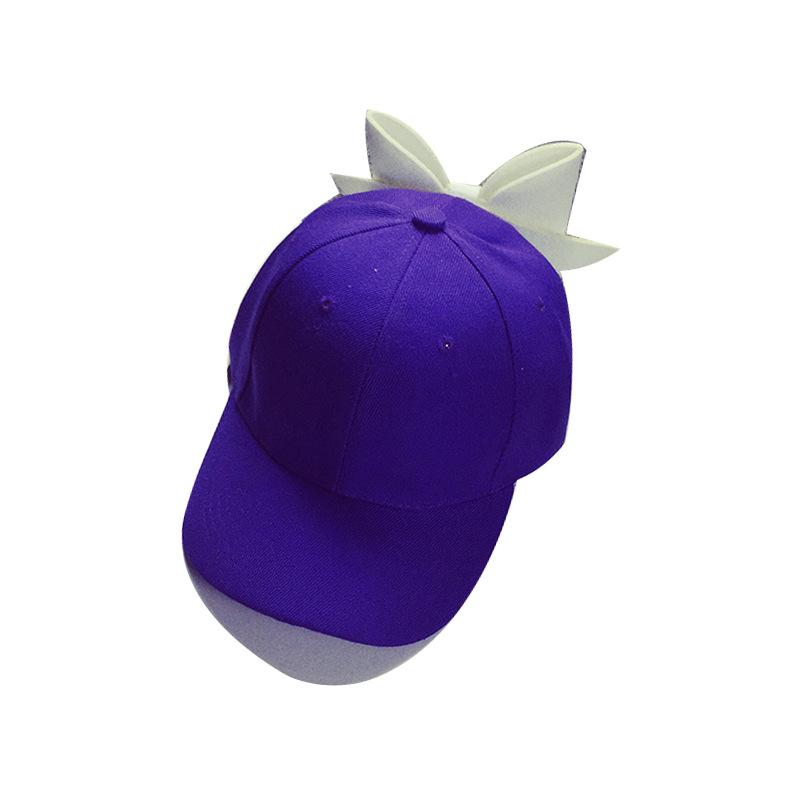 Korean Version Of The Oversized Bow Baseball Cap Spring And Summer Days  Cotton Solid Color Curved Duck Tongue Hat Tide Female Visor La Cap Flexfit  Cap From ... 04f592428f4