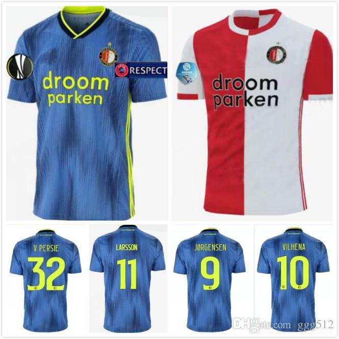 19 20 Feyenoord soccer jerseys home 2019 2020 11 LARSSON 32 V.PERSIE 19 BERGHUIS 10 VILHENA 9 JORGENSEN JERSEY SHIRT
