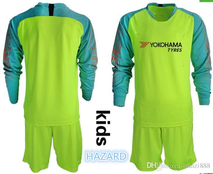 a476b559029 2019 KIDS Soccer Goalkeeper Uniforms Jersey  1 ARRIZABALAGA  13 CABALLERO   31 GREEN  10 HAZARD DAVID LUIZ KIDS Soccer Shirt Goalie Kit From  Tianzi888