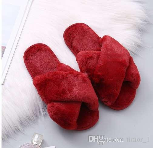 e009fae1eb22bd 2019 COOTELILI Women Home Slippers Winter Warm Shoes Woman Slip On Flats  Slides Female Faux Fur Slippers 36 41 Wholesale From Timor 1
