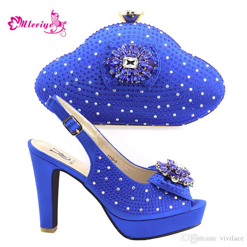 dee9f7b3d Compre 265 3 Azul Nova Moda Italiana Sapatos E Bolsas Conjunto Envio Gratis Sapato  Italiano E Saco Set Para Festa Em Mulheres Nigerianas Sapatos De ...