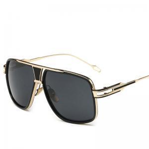 5b40a10e46 Compre Gafas De Sol Cuadradas De Metal Con Montura Grande Cuadrado Grande  Bar De Metal De Época Diseñador Mujeres Vintage Hombres Gafas De Sol De  Moda Retro ...