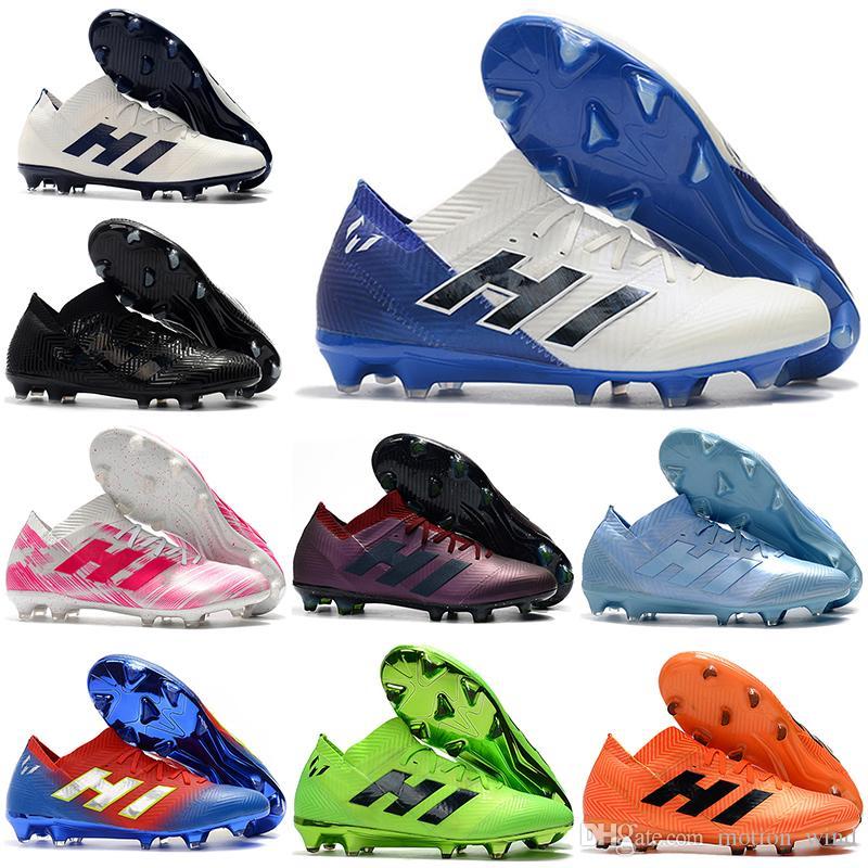 release date: b9d33 effe1 Compre Nuevo 2019 Botines De Fútbol Para Hombre Con Bajo Tobillo NEMEZIZ 18+  360 Agility FG Zapatos De Fútbol NEMEZIZ Messi 18.1 FG Tacos De Fútbol Para  ...