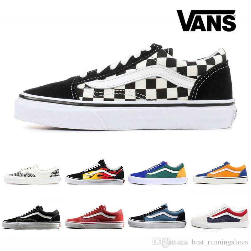 7657dbd77bff 2019 2019 VANS SK8 Hi Classic Old Skool White Zapatillas De Deporte Mens  High Top Fear Of God Canvas Casual Skate Shoes Mens Trainers Sneakers From  ...