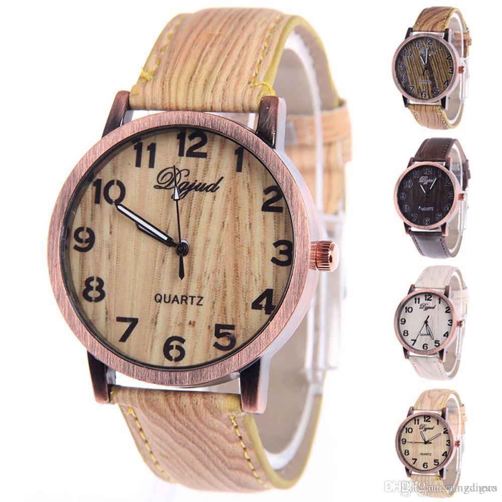 e35be87afc12 Compre Nuevo Reloj De Moda De Las Mujeres De Madera Cinturón De Grano Relojes  Para Mujer Casual Elegante Cuarzo Relojes De Pulsera Reloj Casual Montre  Femme ...