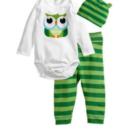 7490605ca New Newborn Baby Clothing Sets Rompers Bodysuits Pant Hat Set ...