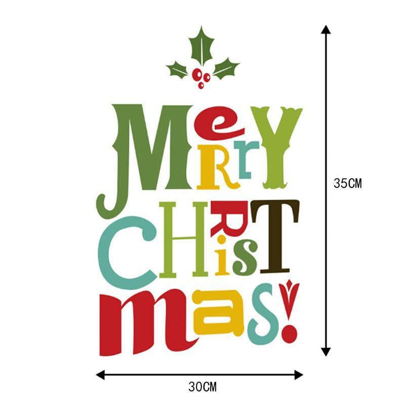 Frohe Weihnachten Aufkleber.Frohe Weihnachten Dekor Fensterglas Aufkleber Frohe Weihnachten Weihnachtsmann Schnee Pvc Abnehmbare Wandaufkleber Für Weihnachten Home Decals