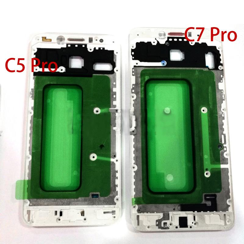 For Samsung Galaxy C5 Pro/C5010 C7 Pro/C7010 Front Cover Case LCD Frame Beze Housing Replacement Parts