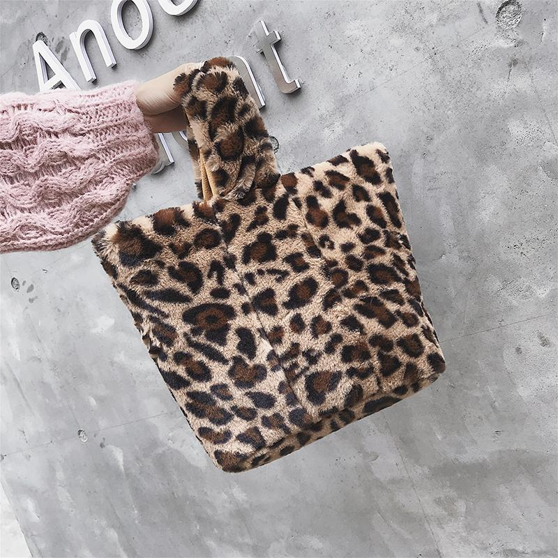 2019 Vintage Women Shoulder fashion Bags Top Korean fashion Ladies Crossbody Bag Faux Fur Plush Cony Hair tote bags Female
