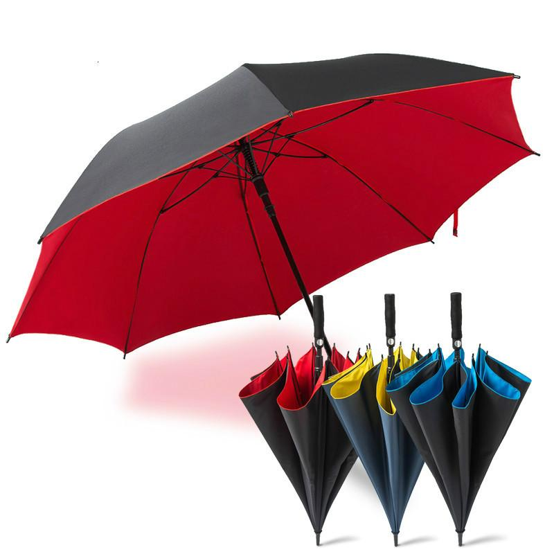 2f5d23249b60 Long handle umbrella outdoor automatic super large thickening parasol  business golf umbrella creative rain and rain umbrella.