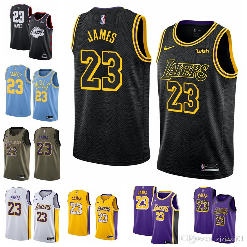 timeless design 2f9c7 12383 2019 23 LeBron James Laker Jersey The City Los Angeles Kobe 24 Bryant 8  Lonzo 2 Ball Kyle 0 Kuzma Brandon Jersey NEW