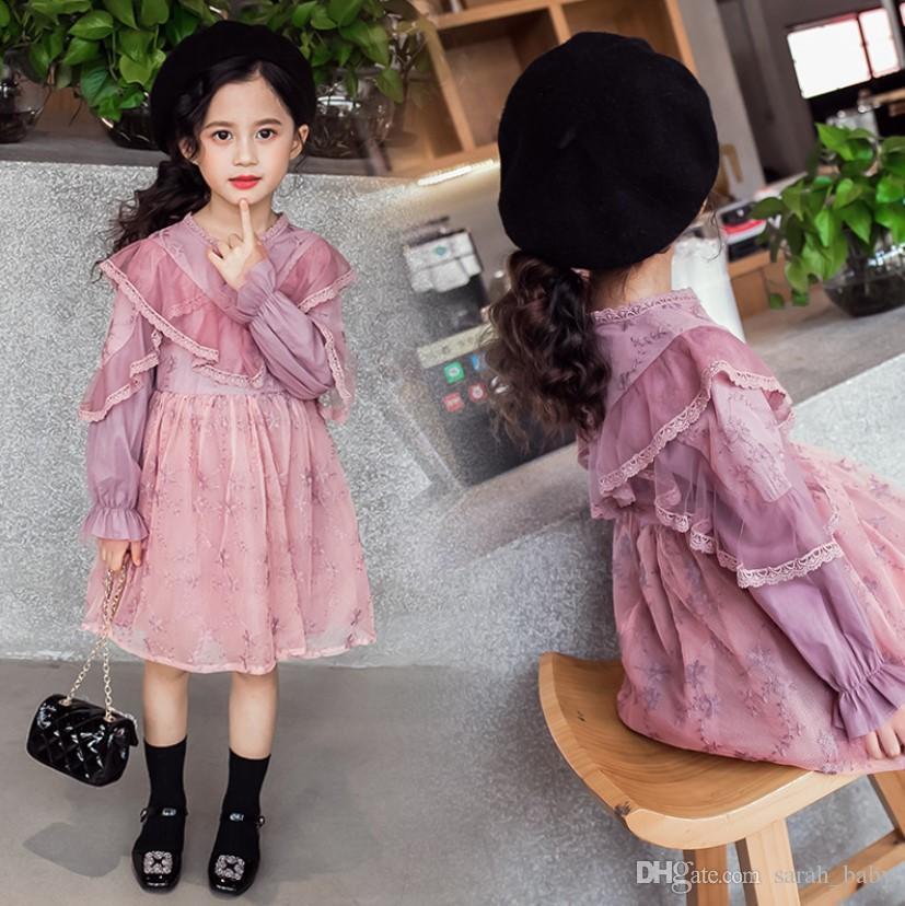 e7d2259b8f20c Retro Palace Princess Dresses 2018 Autumn Irregular Ruffle long sleeve  Dresses Girls Dresses Baby & Kids Clothing free shipping