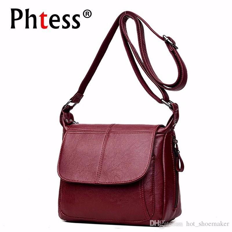 558dc61da3 2018 Female Messenger Bag Sac A Main Crossbody Bags For Women Leather  Shoulder Bags Vintage Handbags High Quality Ladies Bag New  93434 Ladies  Purses Tote ...