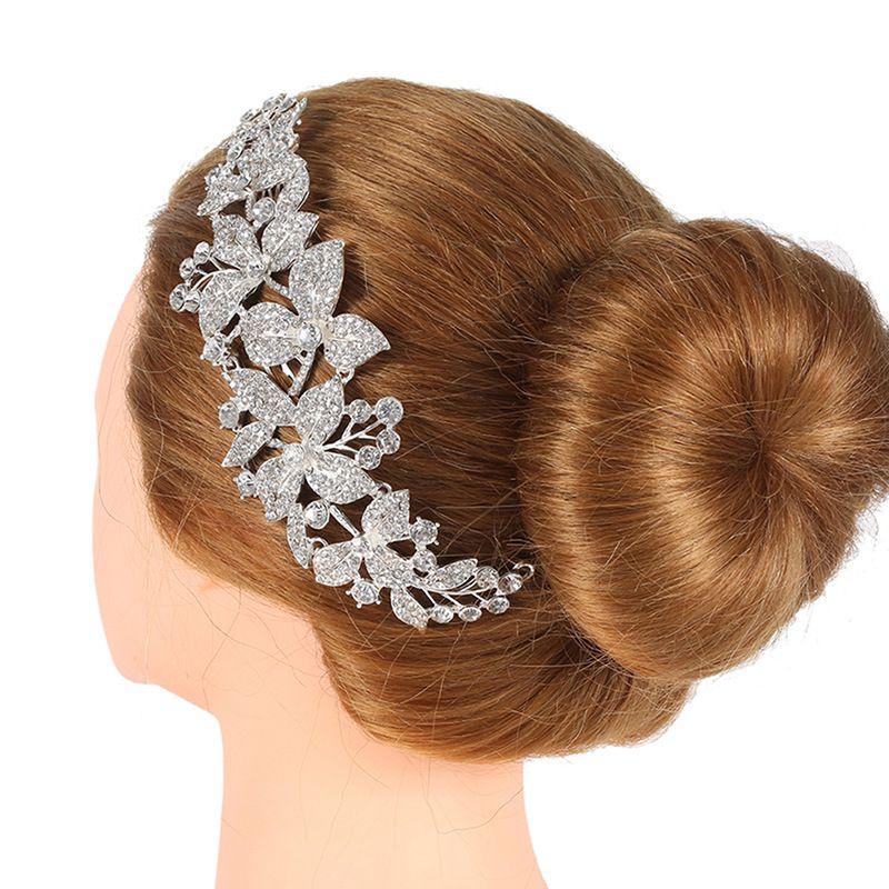 88405d40498fa 2019 Cheap Jewelry Luxury Crystal Bridal Comb Clip Flower Rhinestone Hair  Combs Wedding Hair Accessories Bride Headwear Headpiece Head Jewelry From  Feng112, ...