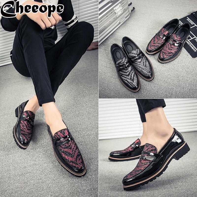 dd8d0259a5 Compre Zapatos De Vestir De Hombre Para Hombre Zapatos De Hombre Tendencia  Lujo Estilo Italiano Moda Hombres Negocios Formales Mocasines De Boda  Barcos ...
