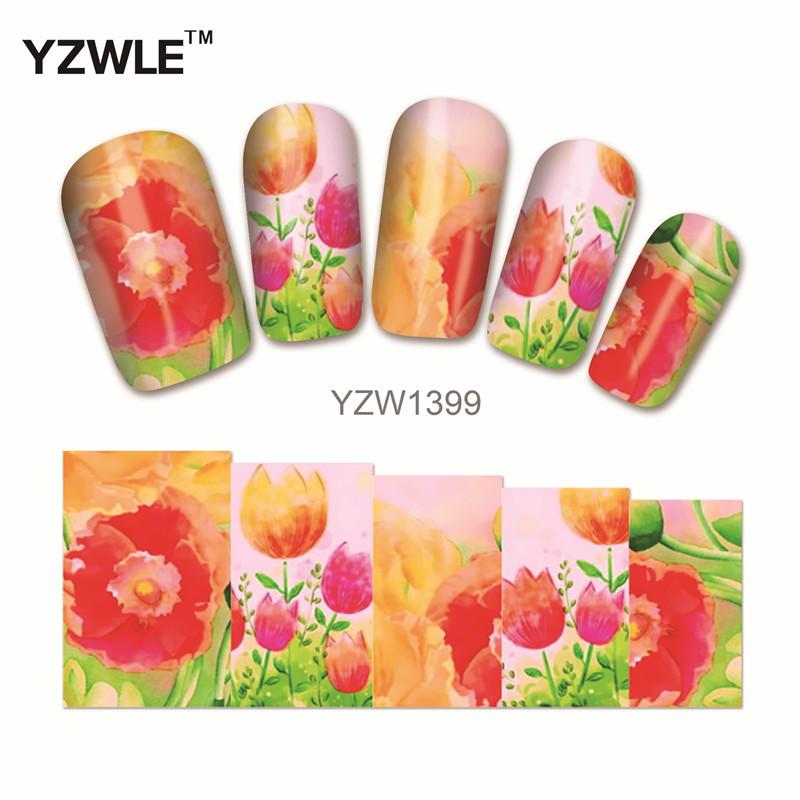 YZW Women\'S Nail Polish Nail Sticker 6*5CM Environmental All ...