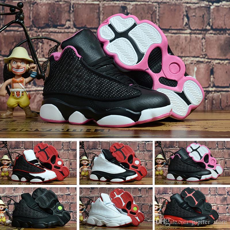 newest 330b7 7da8e Compre Nike Air Jordan 13 Retro NIÑOS 13 S Zapatos De Baloncesto One Penny  Hardaway Tenis Para Niños Zapatos De Deporte De Baloncesto Para Berenjenas  Al ...