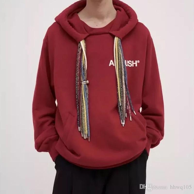 Brand Design Red Hooded Sweatshirt Men Women Winter Pullover Fleece ... 2c6f027239