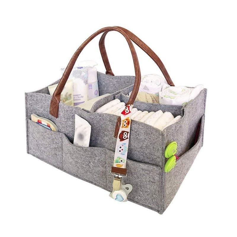 Multifunction Makeup Cosmetic Container Felt Portable Travel Storage Case Baby Diapers Nappy Organizer Handbag Mummy Bag J190713