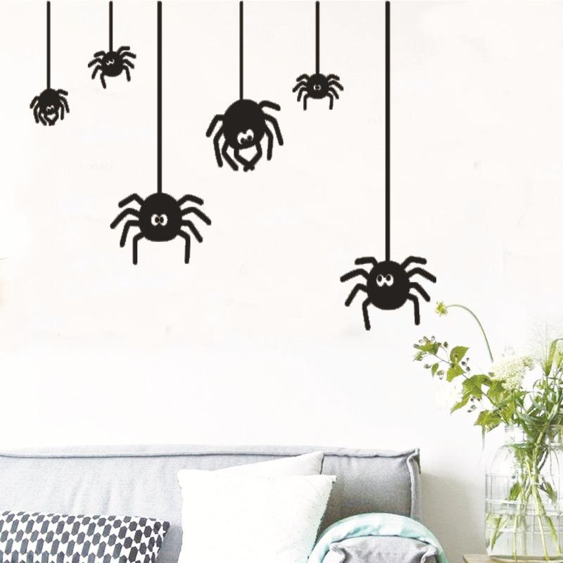 Spider New Creative Bedroom Switch Stickers Glass Window Stickers Painted Wall Stickers Hot Reimbursement Free Postal