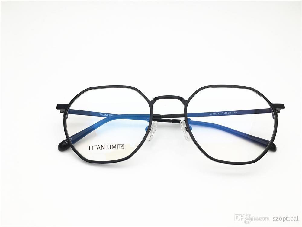 6f2c3ee7f3 Brand Desgin Irregular Shape Latest Pure Titanium Ultra Light Spectacle  Frame Men Myopia Designer Glasses Prescription Clear Lens Eyeglas Online  with ...