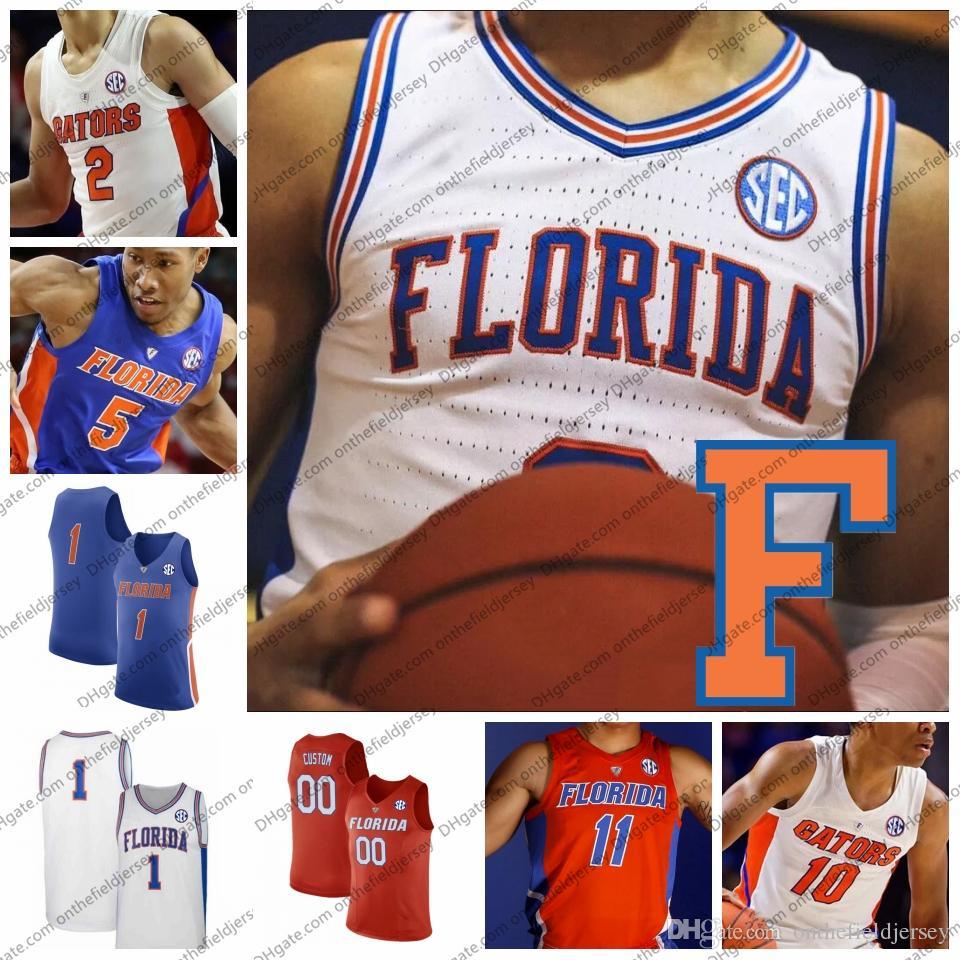 b5d708f27eb Custom Florida Gators College Basketball Jersey Any Name Number 2 ...