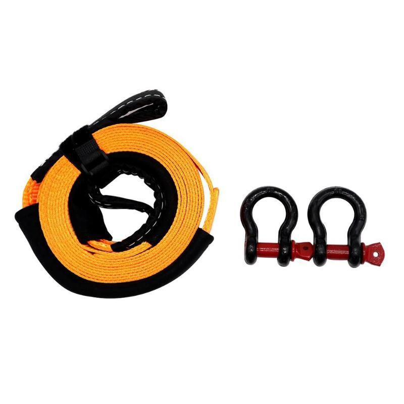 VODOOL 5m 5 Tons Heavy Duty Car Road Recovery Tow Strap Towing Rope with 2 Tow Hooks Car Accessories Styling Towing Ropes