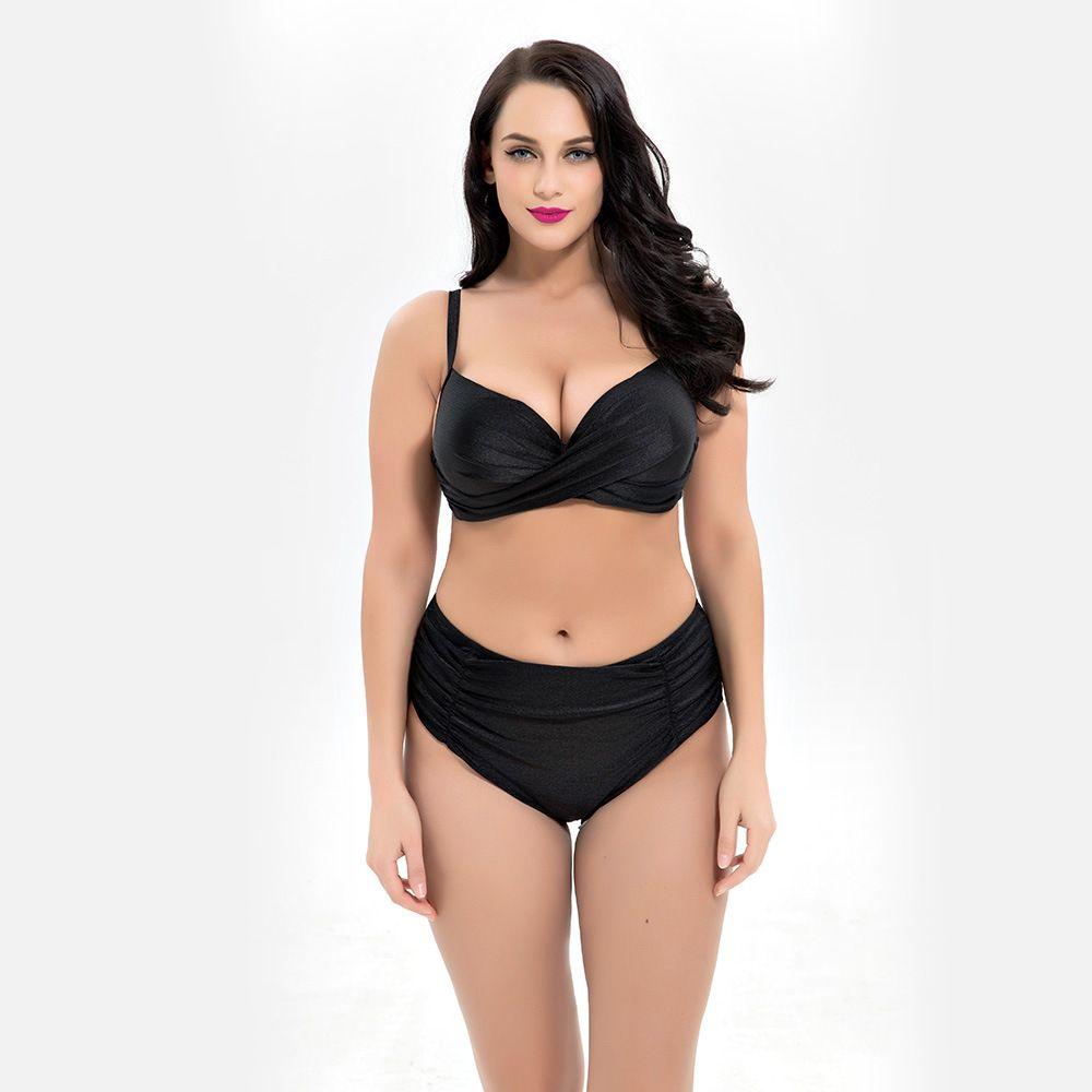 6538872ac4b 2019 6XL Plus Size Bikinis Swimwear For Women Swimsuit Bikini Set 2019 Sexy  Beach Biquinis Woman High Waist Bathing Suit Push Up Padded Swim Wear From  ...