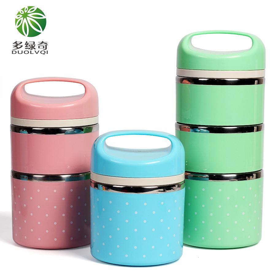 3 schichten 304 Edelstahl Japanischen Thermische Bento Box Lebensmittel Container Lagerung Kinder Picknick Schule Bento Box Tragbare Thermische Tasche