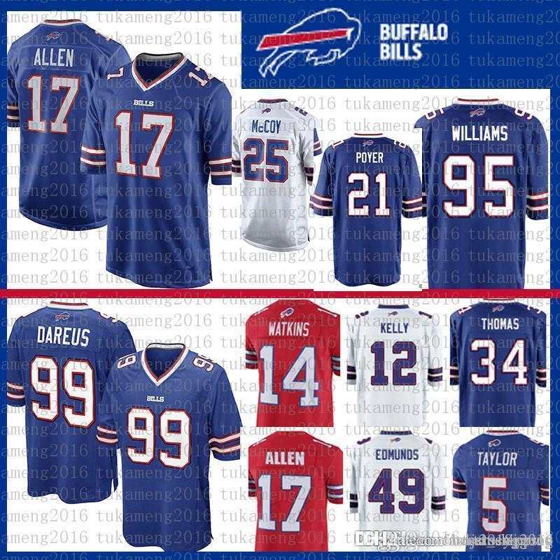 Best 21 Poyer 17 Josh Allen 95 Kyle Williams Buffalo Jersey Bills 34 ... 35993593b