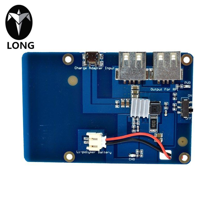 longteng Lithium Battery Pack Expansion Board Power Supply with Switch for Raspberry Pi 3,2 Model B,1 Model B+ Banana Pi