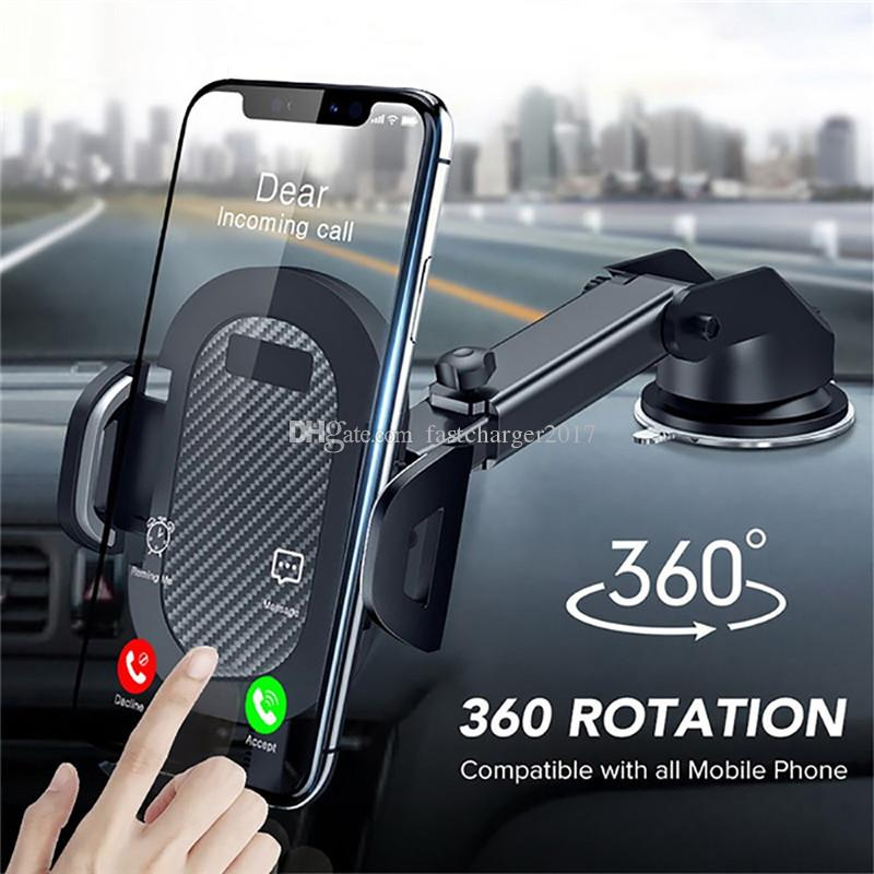 360 Mount Stand in Car Windshield Gravity Sucker Car Phone Holder For Phone Universal Mobile Support For Samsung Smartphone