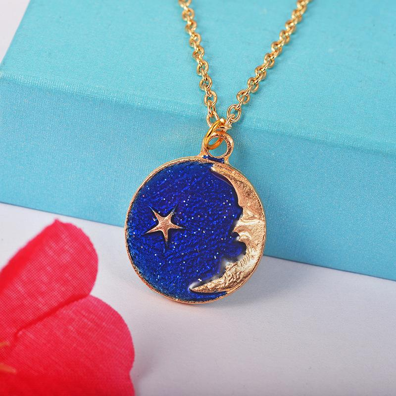 Crazy Feng Trendy Fantasy Planet Jewelry Sets For Women Star Moon Pendant Necklace Asymmetry Earrings Wedding Party Bijoux