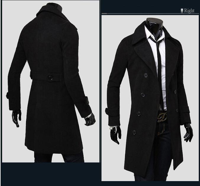 d70e1803d 2019 Business Casual Autumn And Winter Mens Cashmere Coat Slim Fit ...
