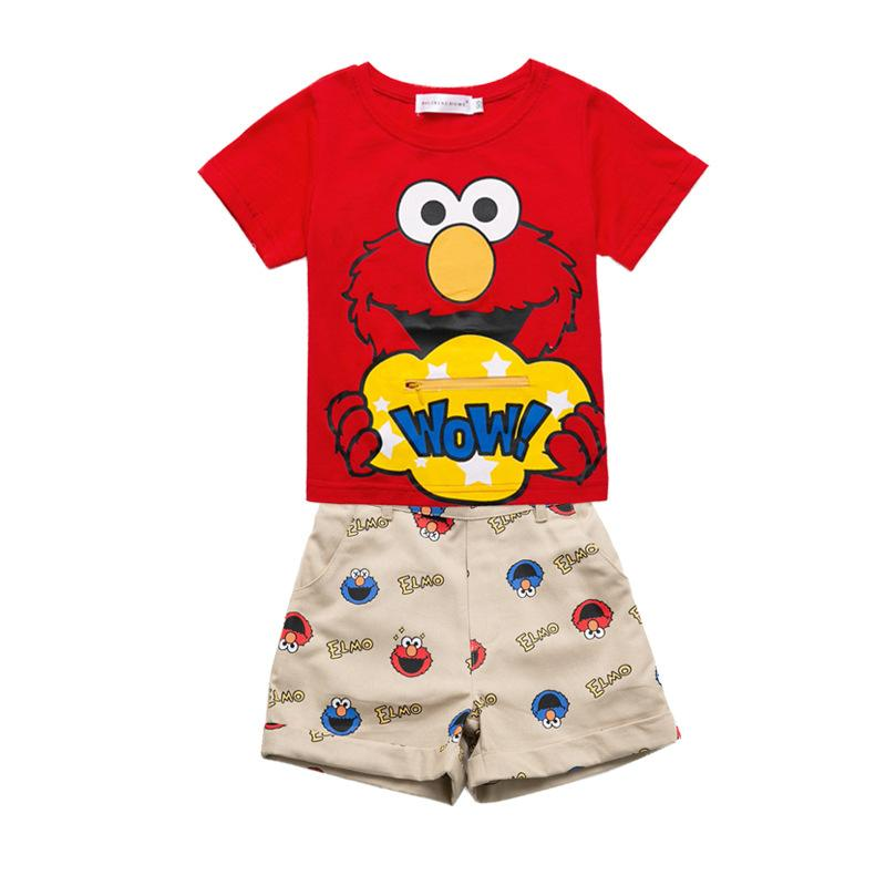 fea77a41 2019 2019 Child Summer Clothing Boys Cartoon T Shirt Suits Baby ...