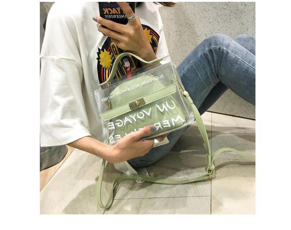 Herald Fashion Women Transparent Bag Clear PVC Jelly Small Tote Summer Beach Bag Messenger Bags Female Crossbody Shoulder Bags
