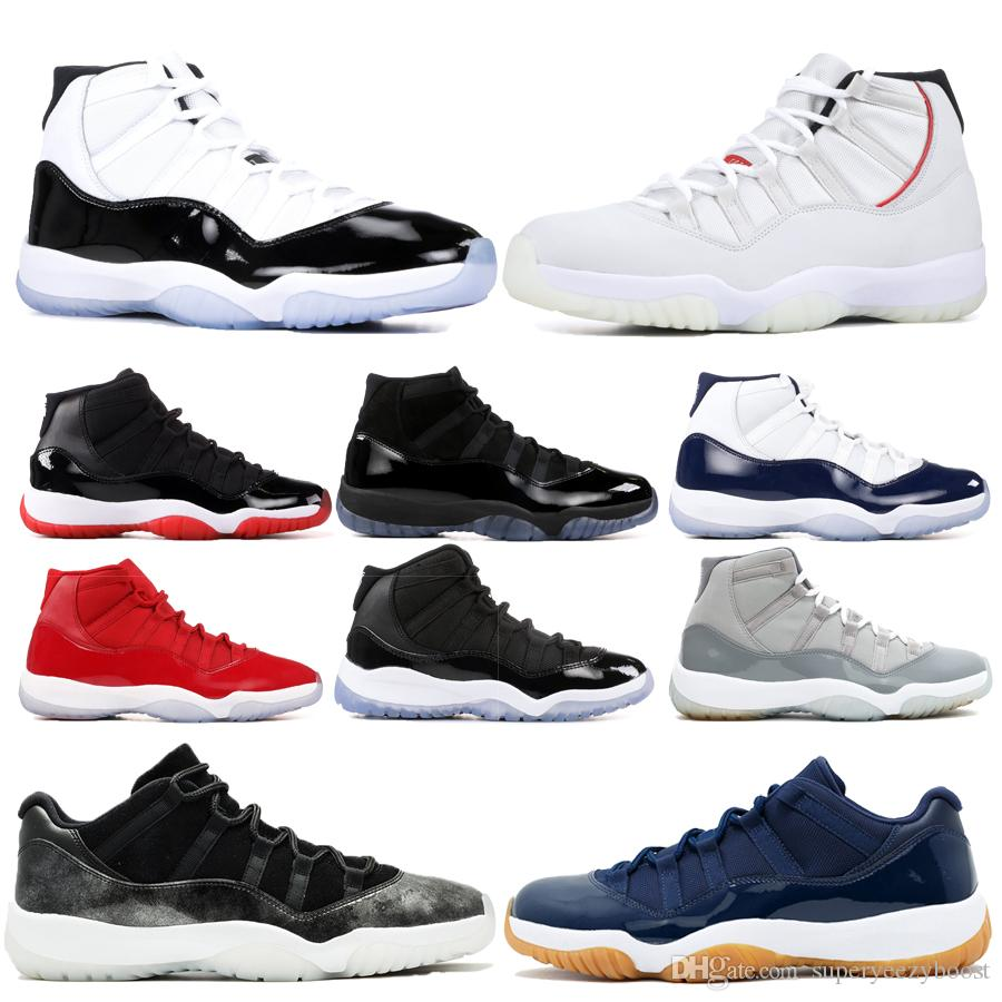 ac3eec66261 Best Bred 11 Basketball Shoes 11s Concord Mens Womens Platinum Tint Heiress  Space Jam WIN LIKE 82 96 Luxury Designer Boots US5.5 13 Walking Shoes Shoes  ...