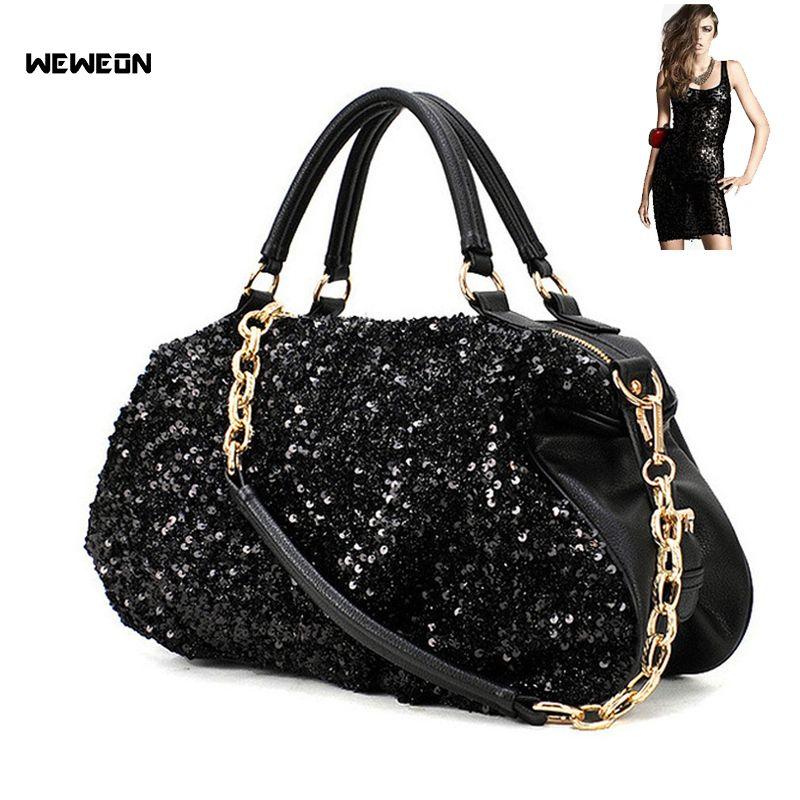 0fd179aa71ba 2019 Designer Korean Street Sequin PU Sports Gym Bag Women Fitness Bags  Tote Multifunction Soft Faced Travel Chain Handbag Sac Sport From Raisins