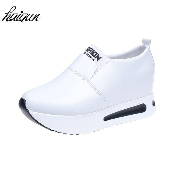 bcc52c470c0 Compre Zapatos De Vestir De Diseño Moda Para Mujer Cuñas Cómodas Mujeres  Tacones Aumentados Bombas De Plataforma Blancas Tacones Altos Zapatos De  Primavera ...