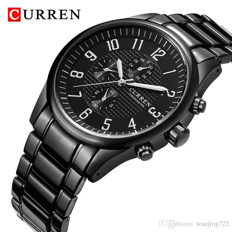 Acero Moda Marca Deporte Impermeables Relojes Para Hombres Lujo De Pulsera Hombre Curren Completo Reloj Negocios Cuarzo 3LARqcS54j
