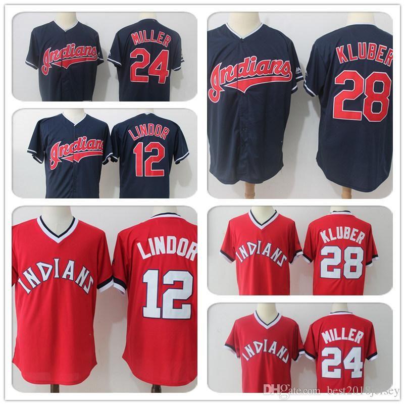 buy popular 9feac d6f1e 10 Edwin Encarnacion Cleveland Indians 12 Francisco Lindor Jersey 28 Corey  Kluber 30 Joe Carter a4