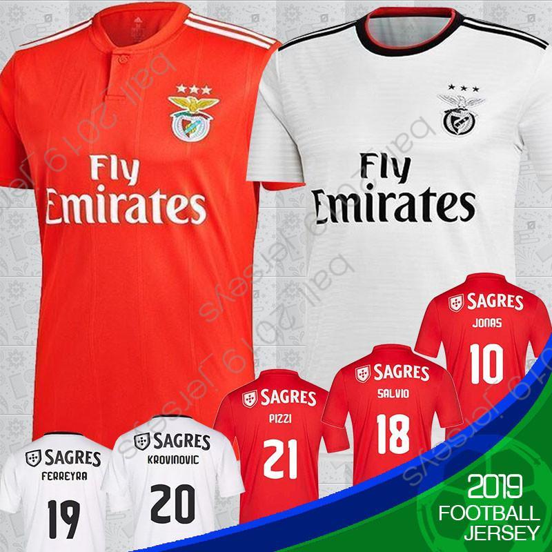 e4b72e60769 18 19 Benfica 10 Jonas Soccer Jersey 18 19 Home Red SEFEROVIC ...