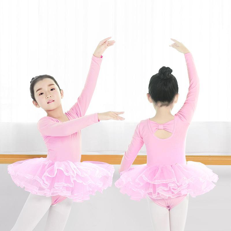 b10f41f49 2019 High Quality Kids Ballet Dance Dress Long Sleeve Ballet Tutu ...