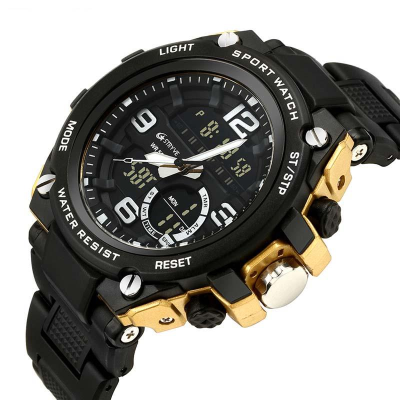6247fac8c Sports Men's Watches Digital Wristwatches Electronic Watch LED ...